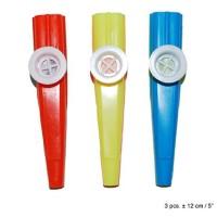 Kazoo fluitjes 3 stuks van 12 cm groot