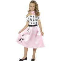 Jaren 50 jurk kind Poodle retro girl