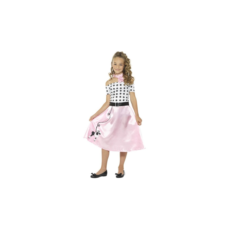 Carnaval Kostuum Kind.Jaren 50 Jurk Kind Poodle Retro Girl