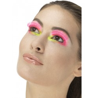 Valse wimpers Fever 80's neon roze + lijm