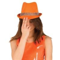 Feesthoed Funk + Strass Neon Oranje