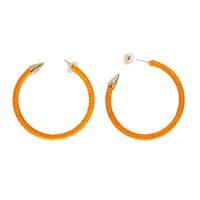 Fluo Neon Oorbellen Oranje 3/4 ring