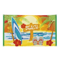 "Hawaii decoratie vlag ""Beach"" 90x150cm"