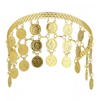 Gouden diadeem met muntjes
