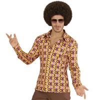 """Jaren 70 retro disco shirt """"Discs"""" voor heren"""