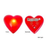 Lichtgevend hartje rood Broche met speld