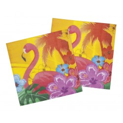 "Hawaii servetten ""Flamingo"" papier 12st"