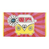 Hippie decoratie feest versiering flower power thema