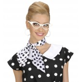 sjaal haarlint polka dots wit haarlint