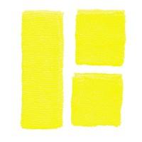 Fluo zweetband setje neon geel