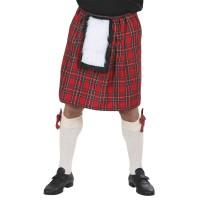 Schotse Kilt rood geruit