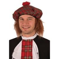 Schotse pet met ros haar