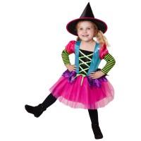 Heksenjurk kind + hoed Halloween kostuum