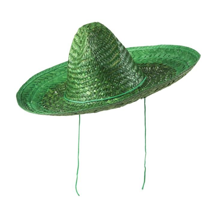 Mexicaanse sombrero hoed groen 48cm groot