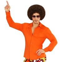 Jaren 70 retro disco shirt Oranje voor heren