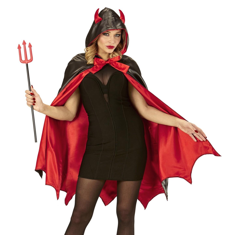 Duivel cape carnaval halloween kostuum