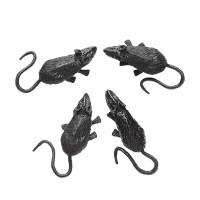 Halloween decoratie Nep muizen 4 stuks 9cm