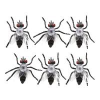 Halloween decoratie Nepvliegen 6 stuks 5 cm