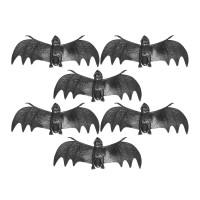 Nep vleermuizen 6 stuks 13 cm Halloween deco