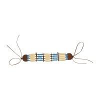 Indianen armband blauw/beige