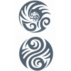 Plaktattoo tribal circles