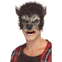 Weerwolf masker Halloween 1/2 gezicht