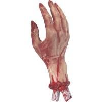 Afgehakte hand met bloed Halloween