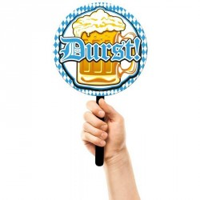 Oktoberfest accessoires durst zwaaibordje dorst