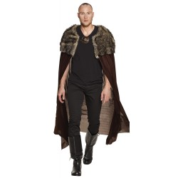 Viking cape met pels night hunter 150 cm