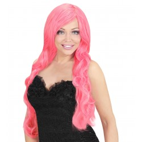 Roze feestpruik Ariane Dames pruik carnaval