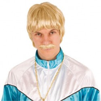 feestpruik blond heren carnavalspruik goedkoop