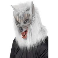 Weerwolf masker grijs Halloween masker