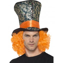 Mad Hatter hoed + haar Alice in Wonderland