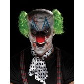 Halloween schmink killer clown pruik make up