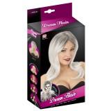 Feestpruik grijze pruik dames goedkope carnavalspruiken