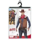 Cowboy gilet heren Western vest bruin