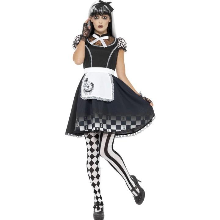 Alice in wonderland jurk Gothic dames