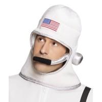 Astronauten helm uit stof met microfoon