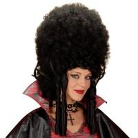 Pruik Barok zwart feestpruiken carnavalspruiken