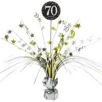 Tafeldecoratie Happy Birthday sparkling 70
