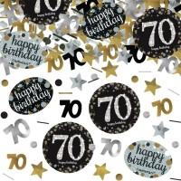 Verjaardag tafel confetti 70 jaar