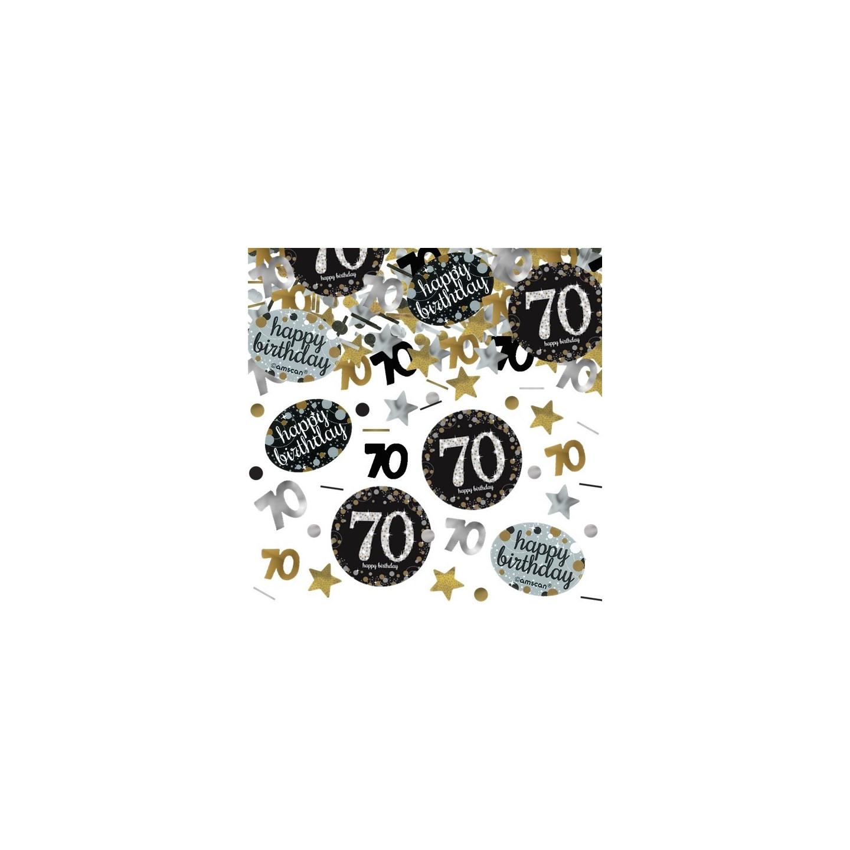Zeer Verjaardag tafel confetti 70 jaar | Jokershop.be feestwinkel #SK-31