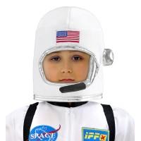 Astronauten helm kind uit stof met microfoon