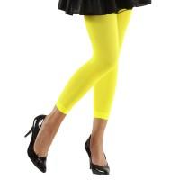 Fluo neon legging geel 70den nylon