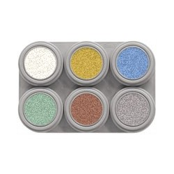 Grimas Water make-up pearl palette 6 x 2,5ml