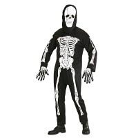 Skelet kostuum heren jumpsuit met masker