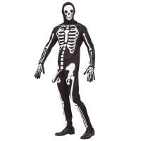 Horny skelet pak met masker + handschoenen
