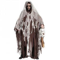 Halloween cape bruine geest
