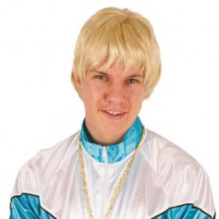 Blonde pruik heren kapsel carnavalspruik