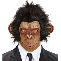 Chimpansee apen masker latex met haar